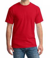 Mens RockBerry Plain 100% Cotton Casual Short Sleeve Rib Crew Neck T- Shirt Top