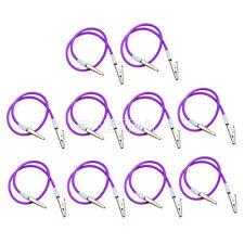 10Pcs Silicone Dental Instrument Bib Clips Cord Napkin holders colorful Purple