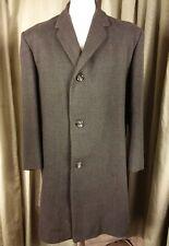"Vintage 60s Hardy Amies Wool/Llama Green Brown Blue Check Coat C44"""
