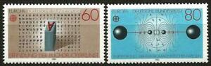 Germany (West) 1983 MNH Europa Gutenberg Letters Resonant Circuit Flux Lines