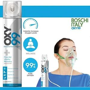OXY99 Portable Oxygen Cylinder 6 Ltrs Can With Oxygen Mask Free Ship