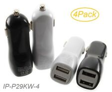 4-Pack 2x USB Mini Car Charger 2.1A/1A Smartphones Power Adapter IP-P29KW-2