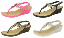 Women's Floral Wedge Low Heel (0.5-1.5 in.) Sandals & Beach Shoes