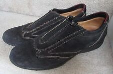 Mens Bruno Magli Hand Made Suede Slip-Ons Size 11 Navy Blue Italy