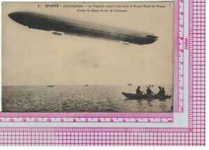 Postcard, Switzerland, Zeppelin, Lake Constance