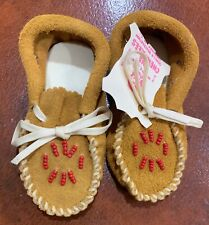 Cherokees Vintage Leather Moccasins Child Size 2