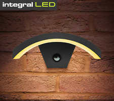 Integral LED Outdoor Curve Modern Wall Light PIR Motion Sensor IP54  Security
