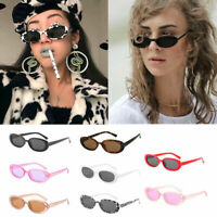 Trendy Oval Frame Sunglasses Women Vintage Small Glasses UV400 Protection Gift