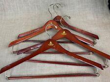Paul Stuart Lot of 6 Hangers Suit Sport Coat Jacket Pants Wooden Men
