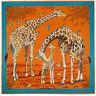"Women's Giraffe Silk Shawl Hijab with Fashion Printed Square Beach Scarf 51""*51"""