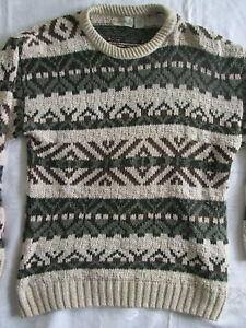 Men's Large FieldMaster Sweater Nordic Style Knitted Skiing Pullover Made in USA