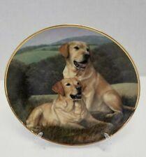 "Franklin Mint Labradors Canine Companions 8"" plate."