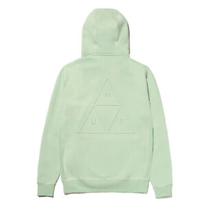 Huf Worldwide Hooded Pullover Hoodie TT Triple Triangle Embossed Mint in M