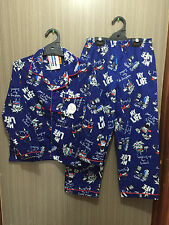 BNWT Boys Sz 10 Cool Blue Gamer Print Long Style Flannel Winter Style PJ Pyjamas