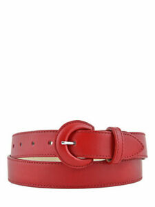 Longchamp Women's Leather Belt Honoré 404 Red NWT $170 (Sold Out)