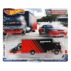 Hot Wheels Team Transport # 27 Nissan Skyline GT-R BNR32 Sakura Sprinter ADVAN