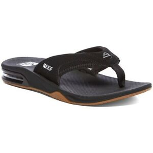NEW Reef Men's Fanning Thong Flip Flops Sandals - Black - 12 US / 45EUR