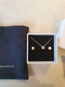KAREN MILLEN earring and pendant necklace set