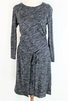 Witchery dark marle grey stretch wool blend long sleeve dress - as new XS