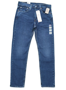 Genuine LEVIS Mens 502 Regular Taper Fit Dark Blue Eco Flex Stretch Denim Jeans