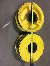 "Bridge Crane Drive Wheels 12"" Diameter 4"" Bearings New Pair 64489-02"