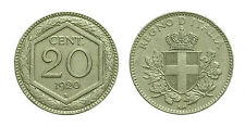 pcc1596) Vittorio Emanuele III (1900-1943) - 20 Centesimi Esagono 1920 raro