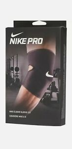 Nike Mens Pro Elbow Arm  Support Sleeve 2.0 Compression Gym Black/White Size L