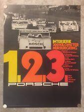 1973 Porsche 917-10 Nurburgring Victory Showroom Advertising Sales Poster RARE