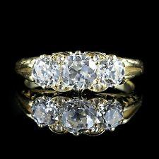 ANTIQUE VICTORIAN DIAMOND RING 2CT TRILOGY CIRCA 1880