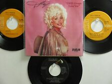 LOT OF 4 ' DOLLY PARTON ' HIT 45's+1P(Copy)[I Will Always Love You]  70's&80's !