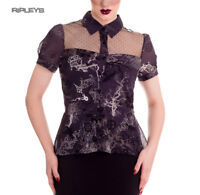 Hell Bunny Spin Doctor Steampunk Goth Shirt Top ALTAIRA Blouse All Sizes