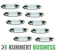 10 x C10W 10W 12V 41 mm Soffitte Sofitten Lampe Kennzeichen Birne