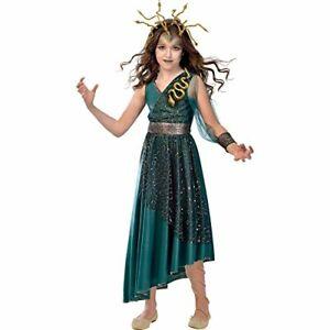 Girls Little Medusa Halloween Fancy Dress Costume Age 10-12 Snakes Scary Fun New