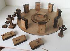 28MM Medieval Celtic Roman Shrine Alter Stonehenge Celtic crosses and Objectives