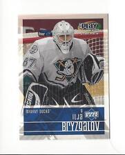 2001-02 UD Playmakers #102 Ilja Bryzgalov RC Rookie Ducks /1250