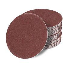 125mm OHNE LOCH Schleifscheiben Klett Schleifblätter Schleifpapier Rot Exzenter