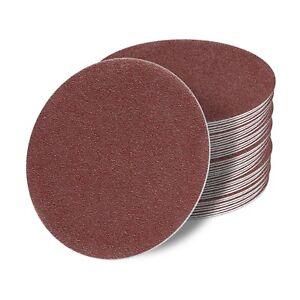 115mm Exzenter Schleifscheiben Klett Schleifblätter Schleifpapier Rot Exzenter