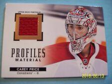 "2015-16 Upper Deck (Portfolio) ""Profiles Materials"" Jersey # PM-CP Carey Price!"