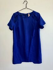 Ally Women's Size 12 Short Sleeve Shift Dress Blue Polyester/Spandex