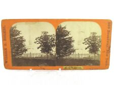 Vintage Stereoview Stereoscope Card William B Holmes Pilot's Monument NY