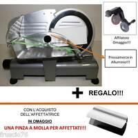 AFFETTATRICE LUSSO 195 GL RGV OMAGGIO PRESSAMERCE ALLUMINIO + AFFILATOIO + PINZA