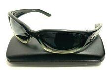 ZEAL OPTICS STRAIGHT SHOOTER Black Plastic Rectangular Wrap Sunglasses JAPAN