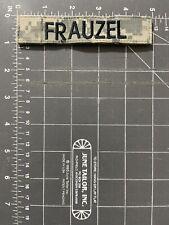 US Army Digital Camouflage Uniform Frauzel Name Tag Patch Strip Tape Badge Tab