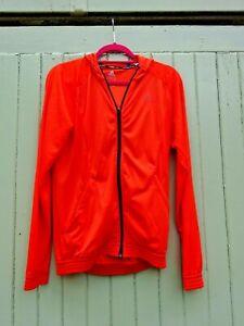 Adidas Climacool Orange Running Jacket Full Zip Hooded Mens S Small Pockets VGC