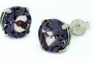 ALEXANDRITE 2.26 Cts STUD EARRINGS 14K WHITE GOLD * Made in USA