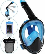 Full Face Folding Snorkel Mask For Adults Kids Snorkeling Mask With Camera Mount