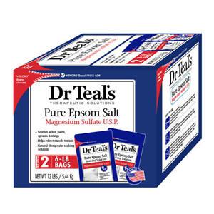12 lbs Dr. Teal's Pure Epsom Salt Magnesium Sulfate U.S.P. Wholesale Bulk 123456