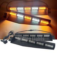 """40 LED 34"""" Amber&White Flash Warn Strobe Sun Visor Deck Split Windshield Lights"""
