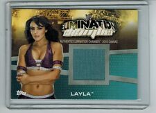 2010 TOPPS WWE LAYLA EC-10 EVENT-USED CANVAS CARD FROM 2010 ELIMINATION CHAMBER