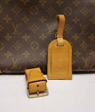 Authentic Louis Vuitton Large Luggage Name ID Tag w/ Strap and Poignet #5